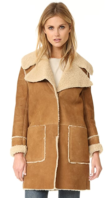 M.i.h Jeans Fairport Shearling Coat