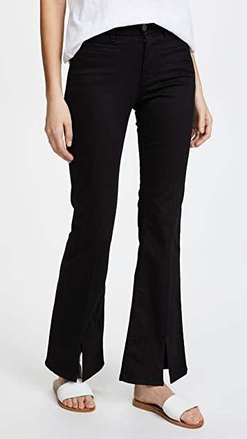 M.i.h Jeans Marrakesh Sneaker Split Flare Jeans