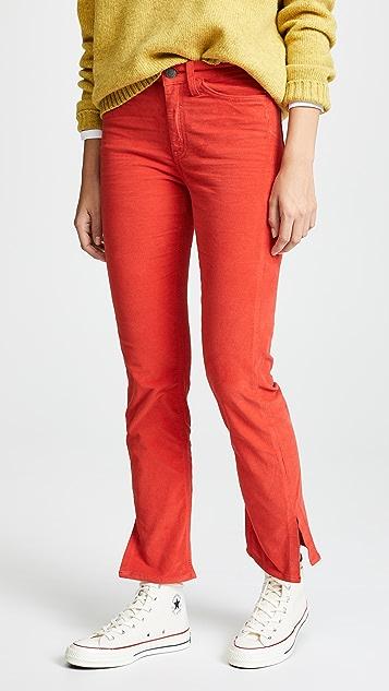 M.i.h Jeans Daily Velvet Straight Leg Jeans