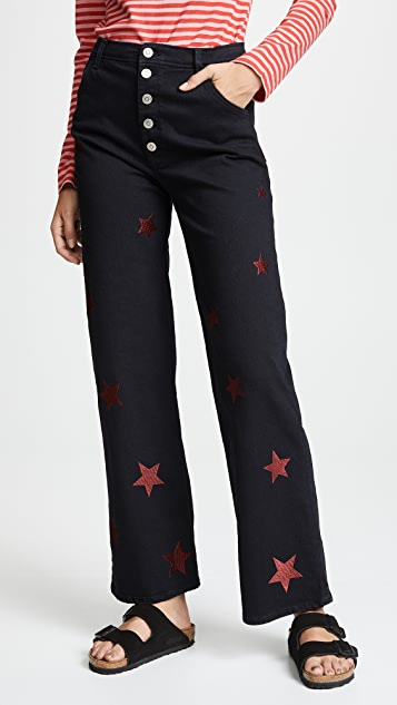 M.i.h Jeans Paradise Embroidered Jeans