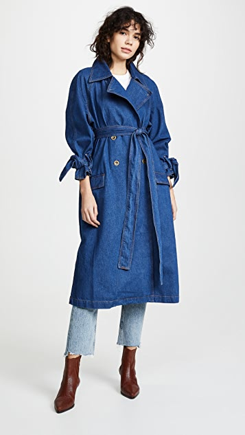 M.i.h Jeans Audie Denim Trench Coat