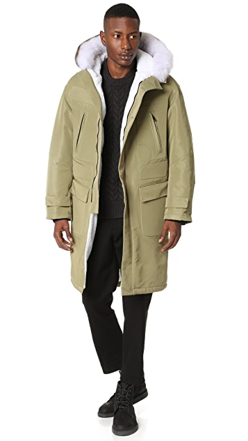 HEICH ES HEICH Fox Fur Long Parka