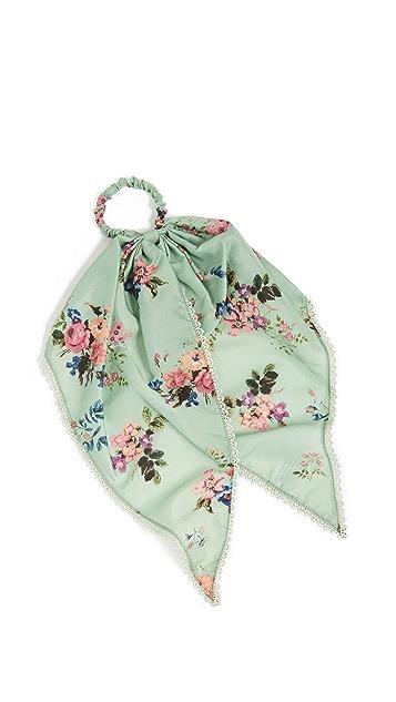 Hemant and Nandita Floral Scrunchie Scarf