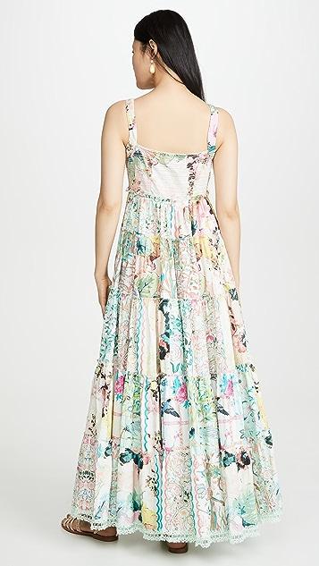 Hemant and Nandita Teiein Long Dress