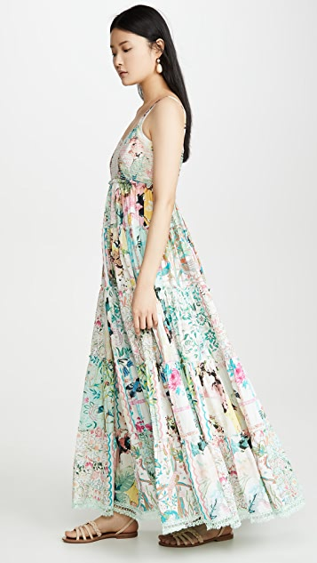 Hemant and Nandita Длинное платье Teiein