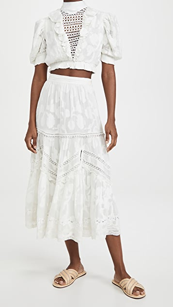 Hemant and Nandita Midi Skirt