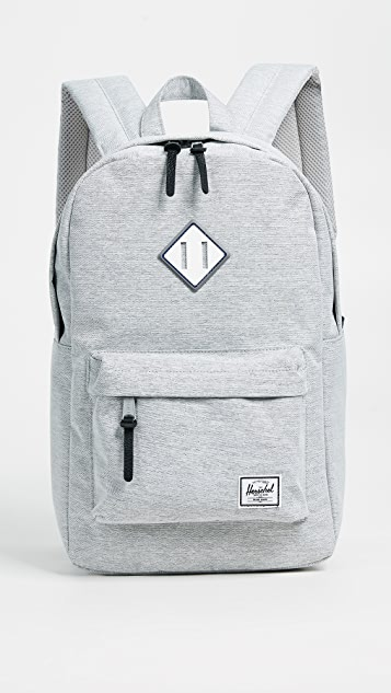 Herschel Supply Co. Heritage Mid Volume Backpack - Light Grey Crosshatch/White