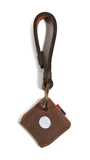 Herschel Supply Co. Leather Key Chain + Tile