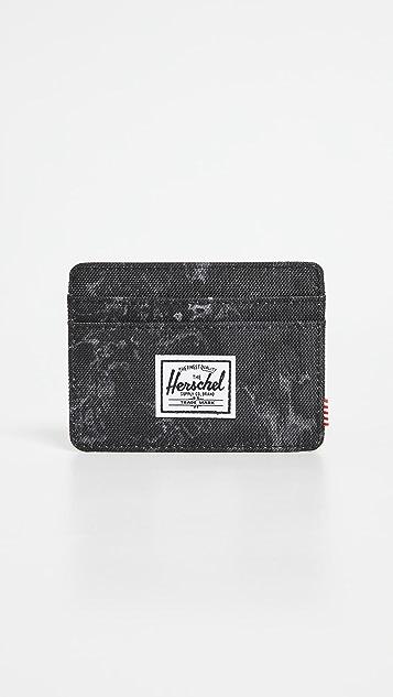 Herschel Supply Co. Charlie + 600d Poly Black Marble Wallet