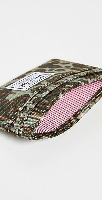 Herschel Supply Co. Charlie+ 600d Poly Green Camo Wallet
