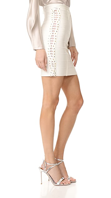 Herve Leger Miniskirt with Side Detail