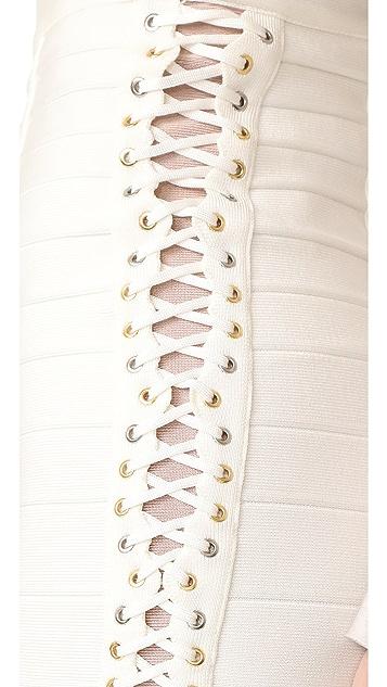 Herve Leger Miniskirt with Side Detail