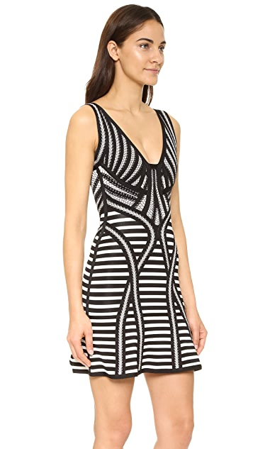 Herve Leger Striped Milana Dress