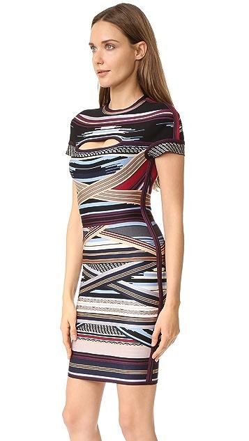 Herve Leger Lisette Stripe Dress