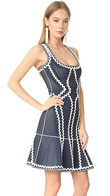 Herve Leger Issaa Zigzag Dress