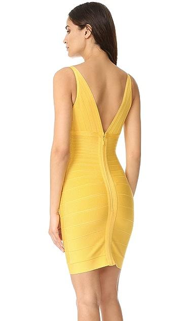 Herve Leger Lauren Sleeveless Cocktail Dress