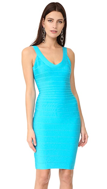 Herve Leger Sydney Sleeveless Cocktail Dress