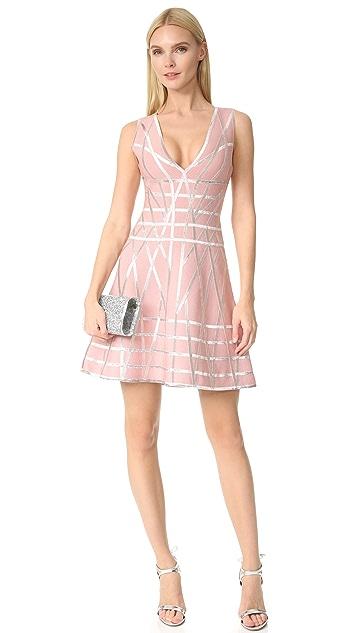Herve Leger Jasmine Flare Dress