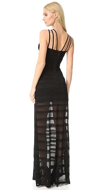 Herve Leger Вечернее платье Waverly с американской проймой