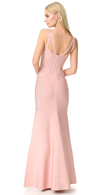 Herve Leger Cambria Gown