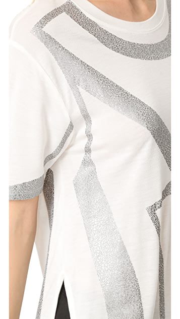 Herve Leger Short Sleeve T-Shirt