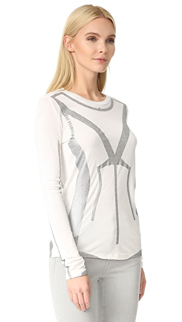 b3a547f8b51e Herve Leger Long Sleeve T-Shirt