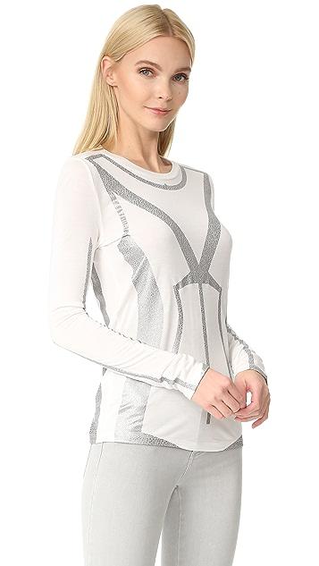Herve Leger Long Sleeve T-Shirt