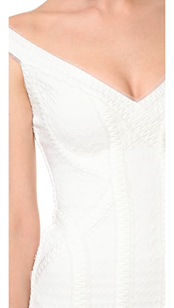 Herve Leger Off Shoulder Gown