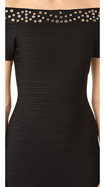 Herve Leger Karlee Bandage Dress