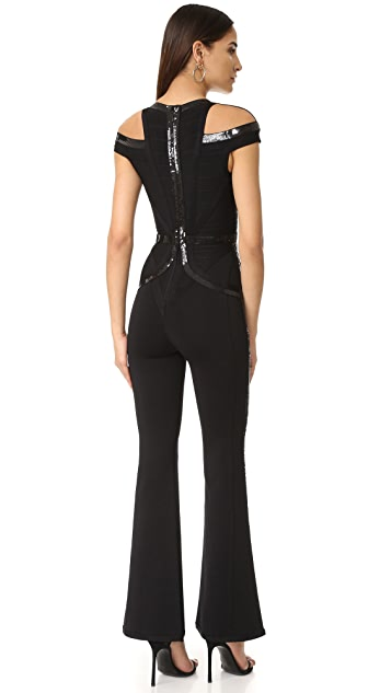 Herve Leger Bethany Sequin Jumpsuit