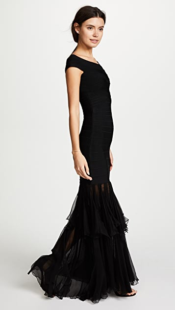 Herve Leger Roma Gown