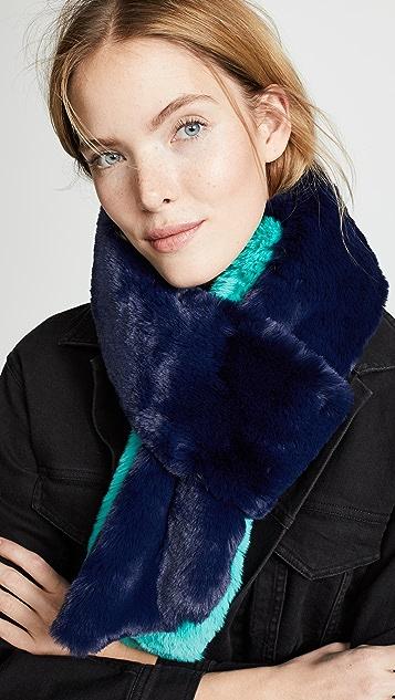 Heurueh Длинный узкий шарф из искусственного меха