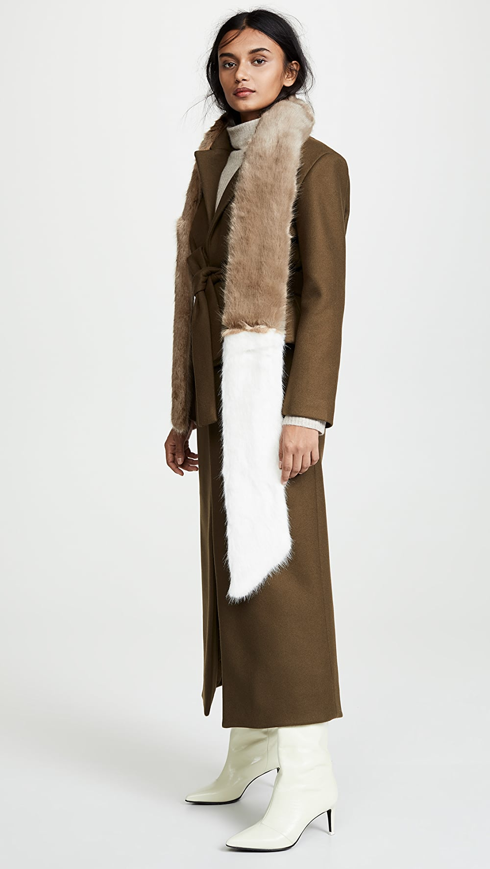 Amiable Heurueh - Long & Skinny Faux Fur Scarf And Digestion Helping