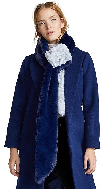 Heurueh Long & Skinny Faux Fur Scarf