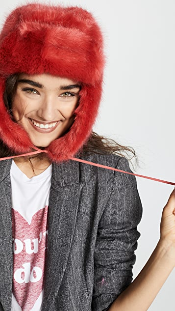 Heurueh Luxe Faux Fur Trapper Hat