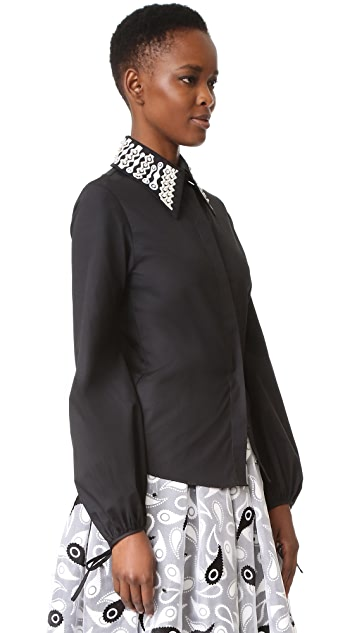 Holly Fulton Embroidered Collar Shirt