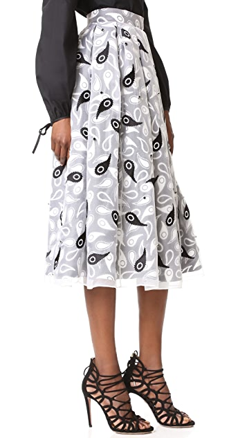 Holly Fulton Embroidered and Printed Organza Skirt