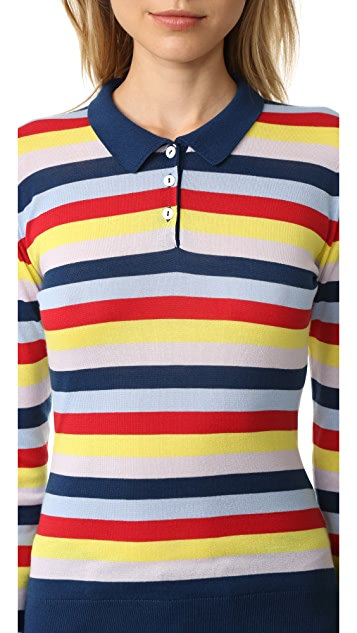 Holly Fulton Wide Stripe Polo Shirt