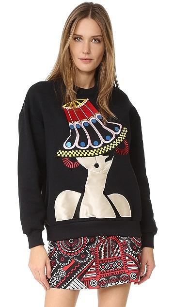 Holly Fulton Embroidered Oversized Sweatshirt