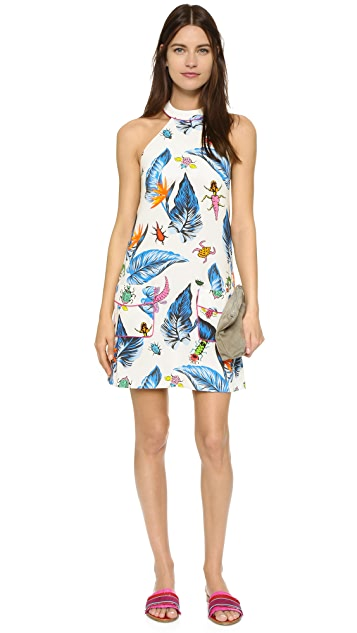 House of Holland Printed Panelled Dress