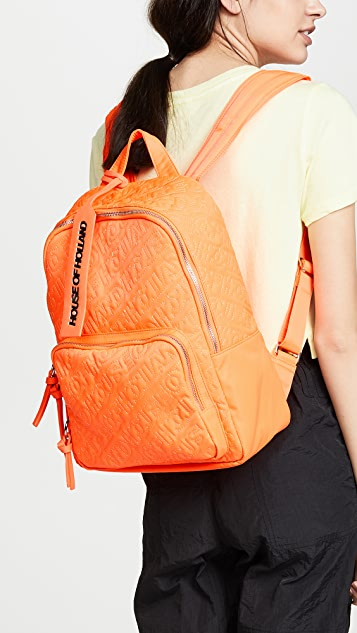 House of Holland Embroidered Backpack
