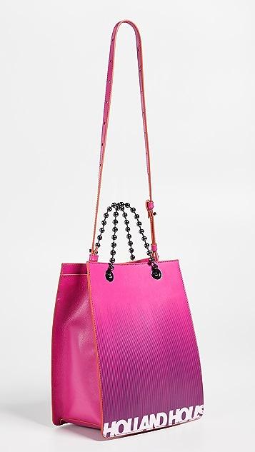 House of Holland Миниатюрная объемная сумка с короткими ручками с принтом