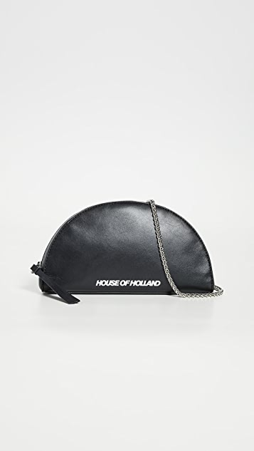 House of Holland Half Moon Clutch