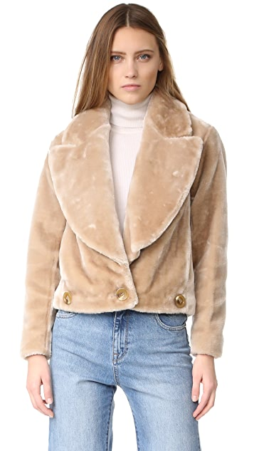 Intropia Faux Fur Jacket