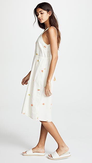 Intropia Sleeveless Ivory Petal Dress