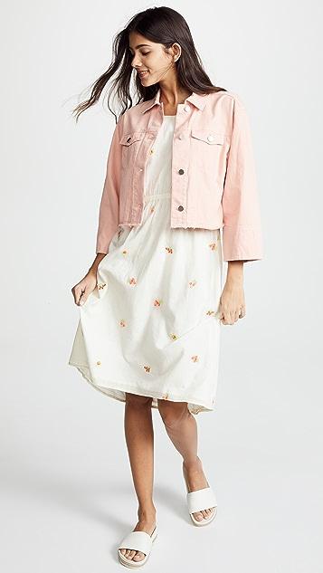 Intropia Sleeveless Ivory Petal Dress