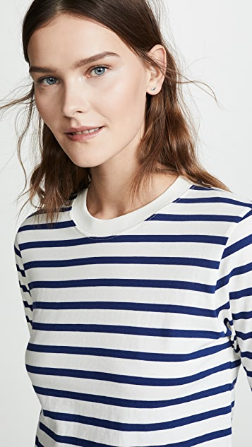 Hanes x Karla Long Sleeve Striped Crop Tee
