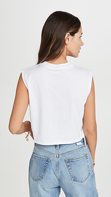 x karla 无袖短款 T 恤