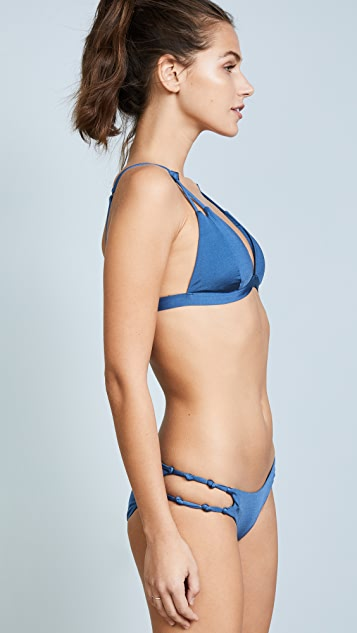 Heidi Klum Coco Azure Fixed Triangle Bikini Top