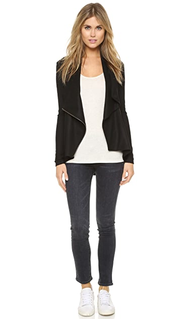 Helmut Lang Sonar Wool Shawl Collar Jacket
